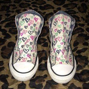 Converse Heart Shape Themed High Top Girl's 12